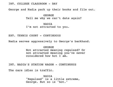 free movie script template - film script formatting click here for free advice