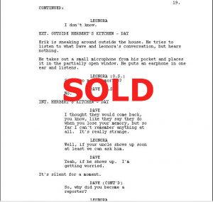 Screenwriting Cover Letter