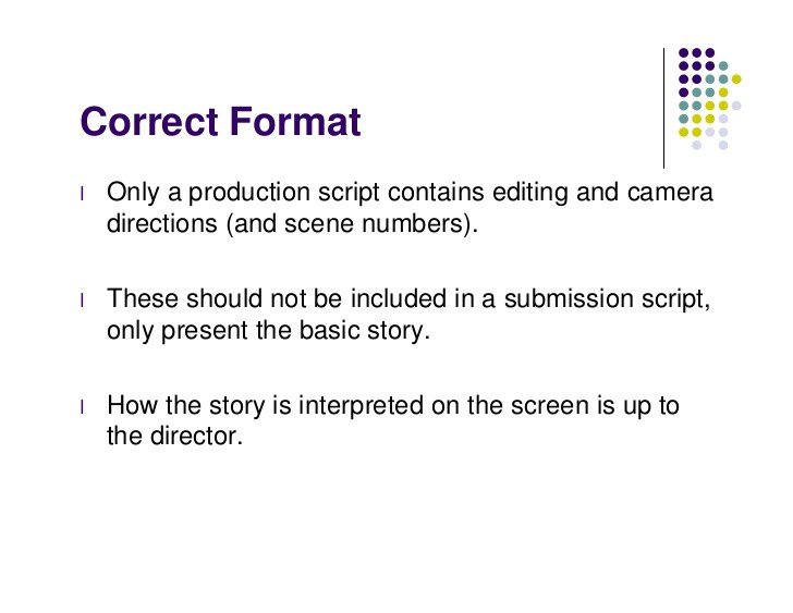 Formatting directions click here for free guide for Camera script template